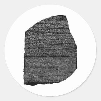 The Rosetta Stone Egyptian Granodiorite Stele Classic Round Sticker