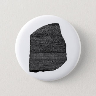 The Rosetta Stone Egyptian Granodiorite Stele Pinback Button