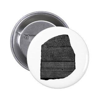 The Rosetta Stone Egyptian Granodiorite Stele Pinback Button