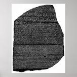 The Rosetta Stone Egyptian Granodiorite Stele Poster