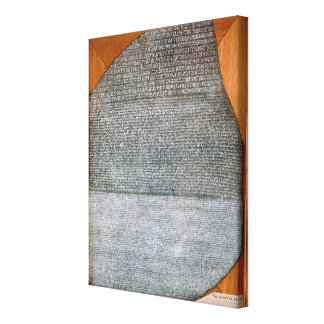 The Rosetta Stone, from Fort St. Julien, Gallery Wrap Canvas