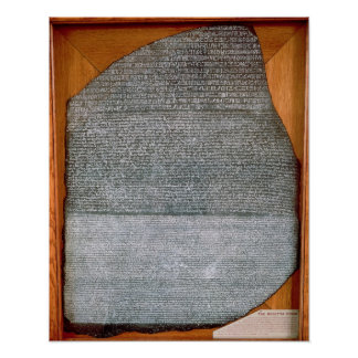 The Rosetta Stone, from Fort St. Julien, Poster
