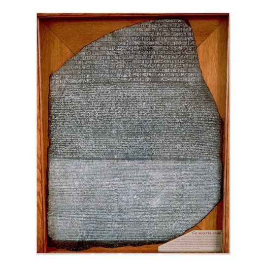 The Rosetta Stone, from Fort St. Julien, Poster