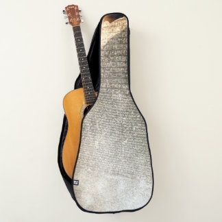 The Rosetta Stone on Acoustic (or Electric) Guitar Case