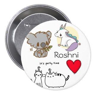 The Roshni Random 3 Inch Round Button