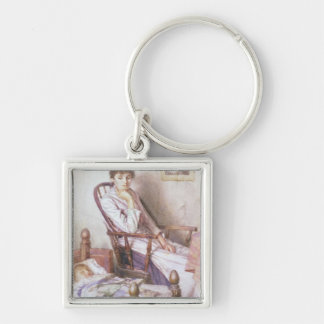 The Rosy Idol of her Solitude Keychain