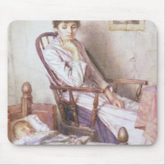The Rosy Idol of her Solitude Mouse Pad