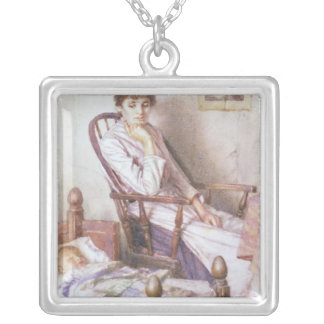 The Rosy Idol of her Solitude Silver Plated Necklace