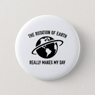 The Rotation Of The Earth Pinback Button
