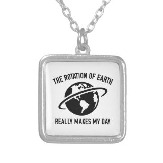 The Rotation Of The Earth Square Pendant Necklace