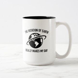 The Rotation Of The Earth Two-Tone Coffee Mug