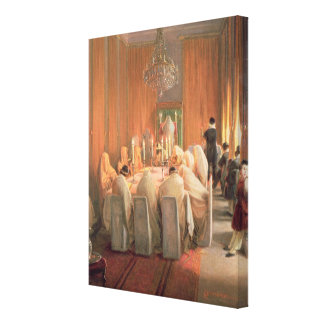 The Rothschild Family at Prayer Canvas Print