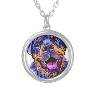 The Rottweiler Love of My Life Silver Plated Necklace