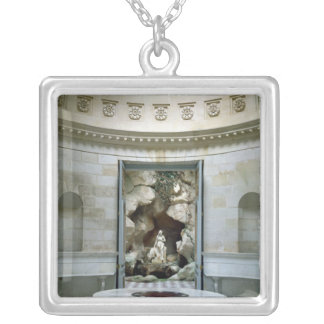 The Rotunda and the Grotto of the Laiterie Silver Plated Necklace