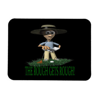 The Rough Gets Rough Rectangle Magnets