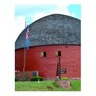 The Round Barn of Arcadia Postcard