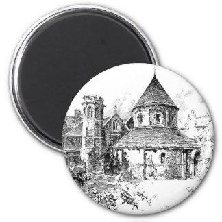 The Round Church 2 Inch Round Magnet