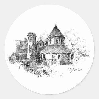 The Round Church Classic Round Sticker