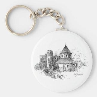 The Round Church Key Chain