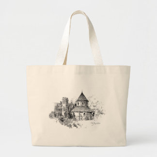 The Round Church Large Tote Bag