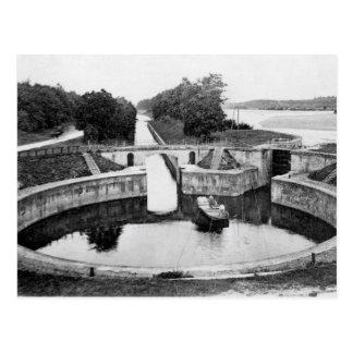 The round lock at Apremont Postcard