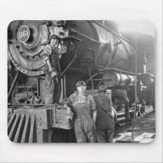 The Roundhouse Gals Vintage Locomotive Mouse Pad