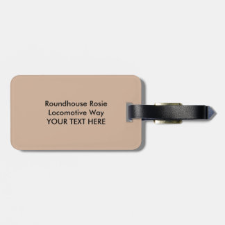 The Roundhouse Rosies of World War I Vintage Bag Tag