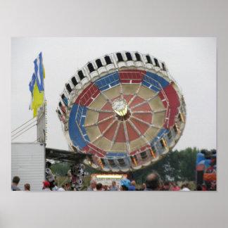 The Roundup Amusement Park Ride Poster