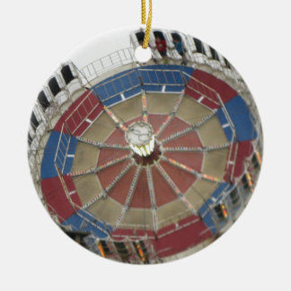 The Roundup Amusment Park Ride Ceramic Ornament