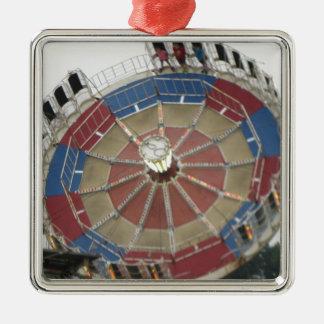 The Roundup Amusment Park Ride Metal Ornament