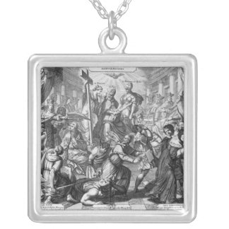 The Rout and Confusion of the Jansenists Square Pendant Necklace