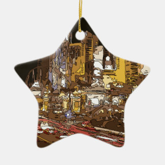 The Route to Sin City Vegas Ceramic Ornament