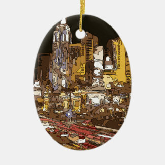 The Route to Sin City Vegas Christmas Ornament
