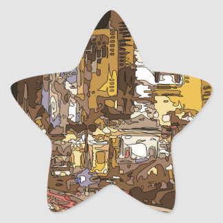 The Route to Sin City Vegas Star Sticker