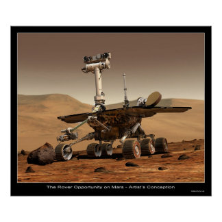 The Rover Opportunity on Mars Poster