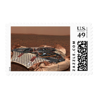 The rover's landing site postage