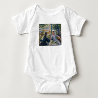 The Rower's Lunch by Pierre-Auguste Renoir Baby Bodysuit