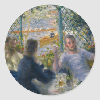 The Rower's Lunch by Pierre-Auguste Renoir Classic Round Sticker