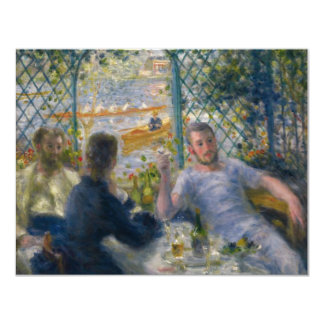 The Rower's Lunch by Pierre-Auguste Renoir 4.25x5.5 Paper Invitation Card