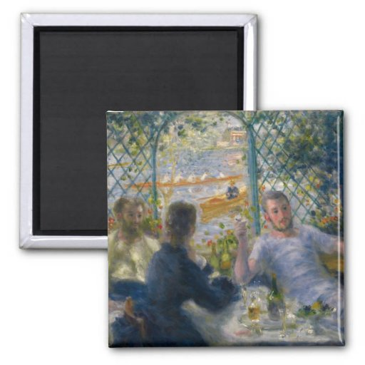 The Rower's Lunch by Pierre-Auguste Renoir Refrigerator Magnet