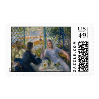 The Rower's Lunch by Pierre-Auguste Renoir Stamp