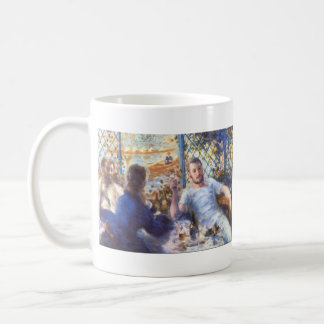 The Rowers Lunch by Pierre Renoir Mugs