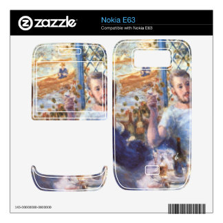 The Rowers Lunch by Pierre Renoir Skin For Nokia E63