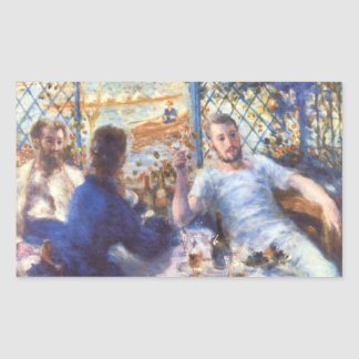 The Rowers Lunch by Pierre Renoir Rectangular Sticker