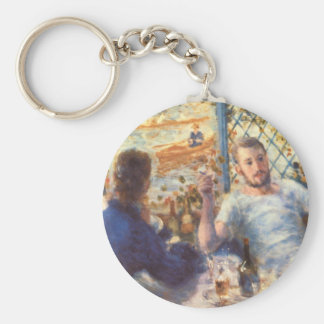 The Rowers Lunch_Impressionists Basic Round Button Keychain