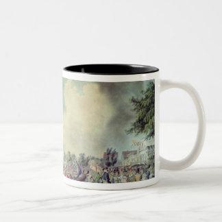 The Rowing Match at Richmond Two-Tone Coffee Mug