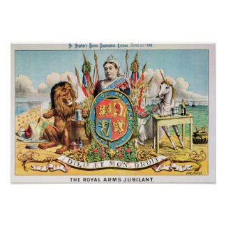 The Royal Arms Jubilant Poster