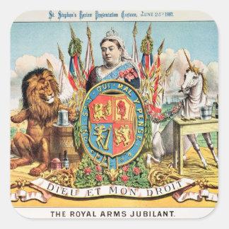 The Royal Arms Jubilant Square Sticker
