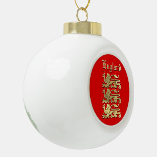 The Royal Arms of England Ceramic Ball Christmas Ornament