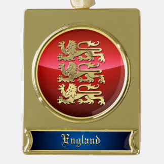 The Royal Arms Of England Gold Plated Banner Ornament
